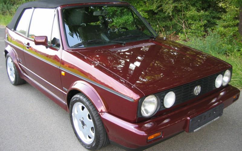 Volkswagen Golf I Cabriolet TOSCANA Original 56900 Km Aus Erster Hand
